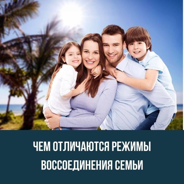 Чем отличаются режимы воссоединения семьи